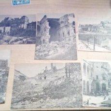 Militaria: LOTE DE 6 RECORTES ORIGINALES DE PRENSA DE COMO QUEDO EL ALCAZAR DE TOLEDO AÑOS DESPUES. Lote 196058012
