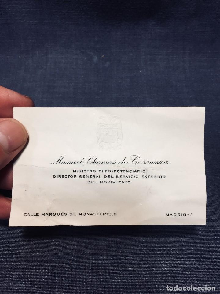 MANUEL THOMAS DE CARRANZA MINISTRO PLENIPOTENCIARIO DTOR GRAL SVCIO EXTERIOR MOVIMIENTO DIPLOMATICO (Militar - Propaganda y Documentos)