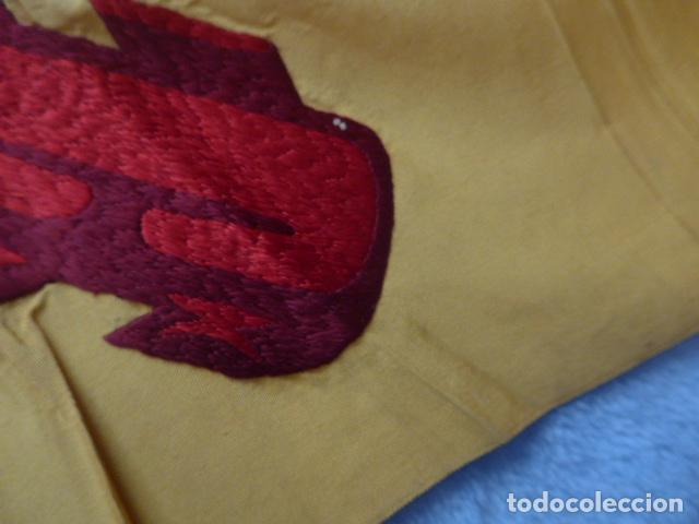 Militaria: * Antigua bandera española bordada a doble cara, preciosa, epoca de guerra Cuba. castells. ZX - Foto 6 - 196288867