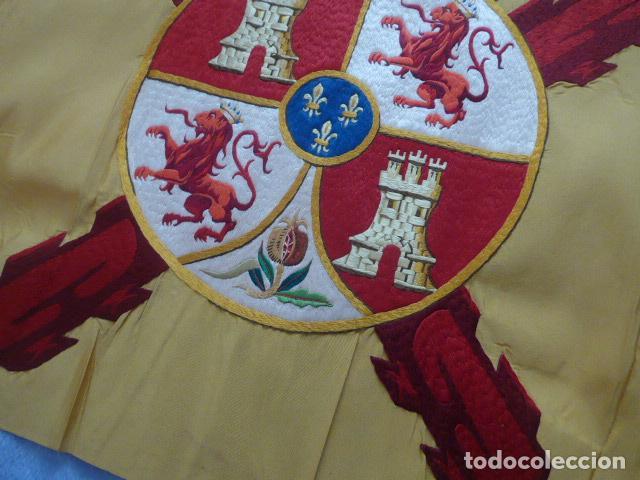 Militaria: * Antigua bandera española bordada a doble cara, preciosa, epoca de guerra Cuba. castells. ZX - Foto 11 - 196288867