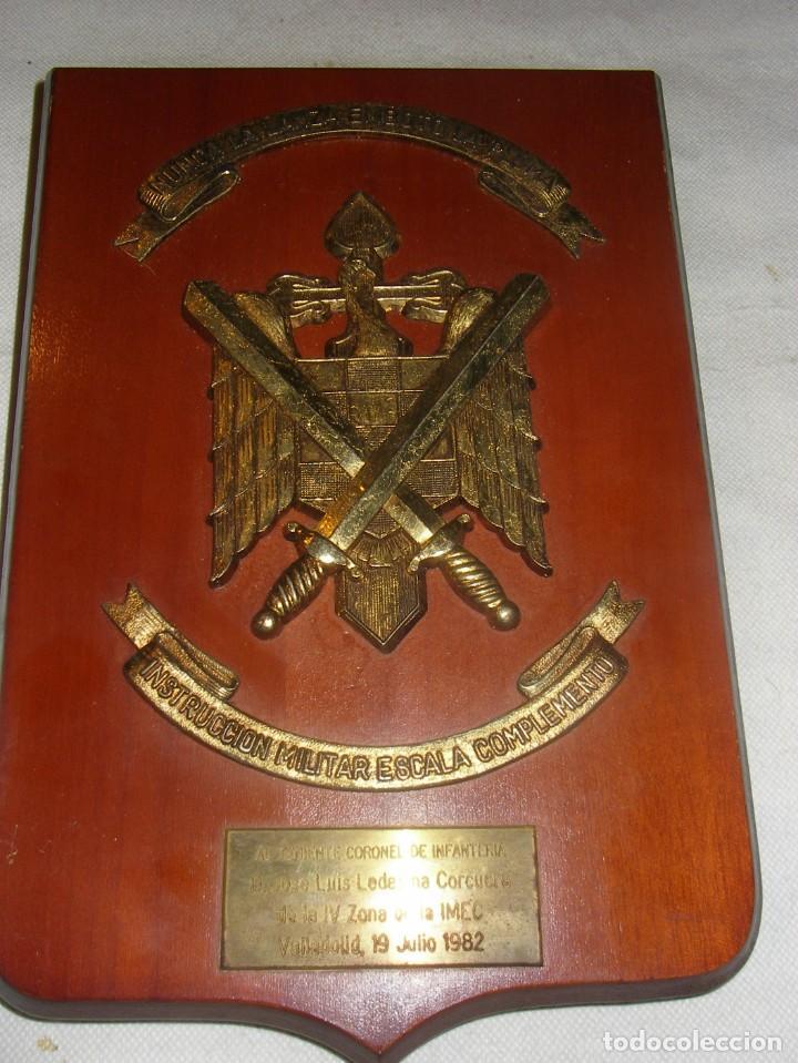 METOPA DE INSTRUCCIÓN MILITAR ESACALA DE COMPLEMENTO, IMEC, MADERA Y METAL, 27 X 18 CM. (Militar - Propaganda y Documentos)