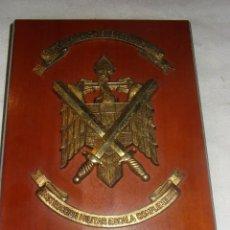 Militaria: METOPA DE INSTRUCCIÓN MILITAR ESACALA DE COMPLEMENTO, IMEC, MADERA Y METAL, 27 X 18 CM.. Lote 237565115