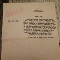 Militaria: JEFE DE LA CASA CIVIL DE FRANCO. PALACIO DE ORIENTE. 1954. RESERVADO. Y URGENTE.. Lote 196802487