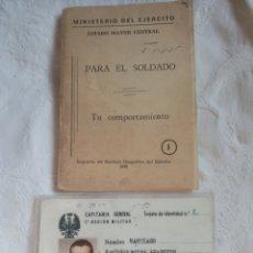 Militaria: CARNET Y MANUAL EJERCITO ESPAÑOL AÑOS 70 EPOCA FRANQUISTA.FRANCO.MILITAR.EJERCITO.FALANGE.INFANTERIA. Lote 196952845
