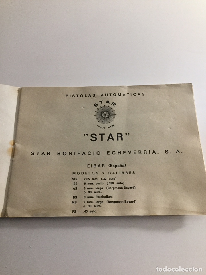 Militaria: Manual pistola Star - Foto 2 - 197831393