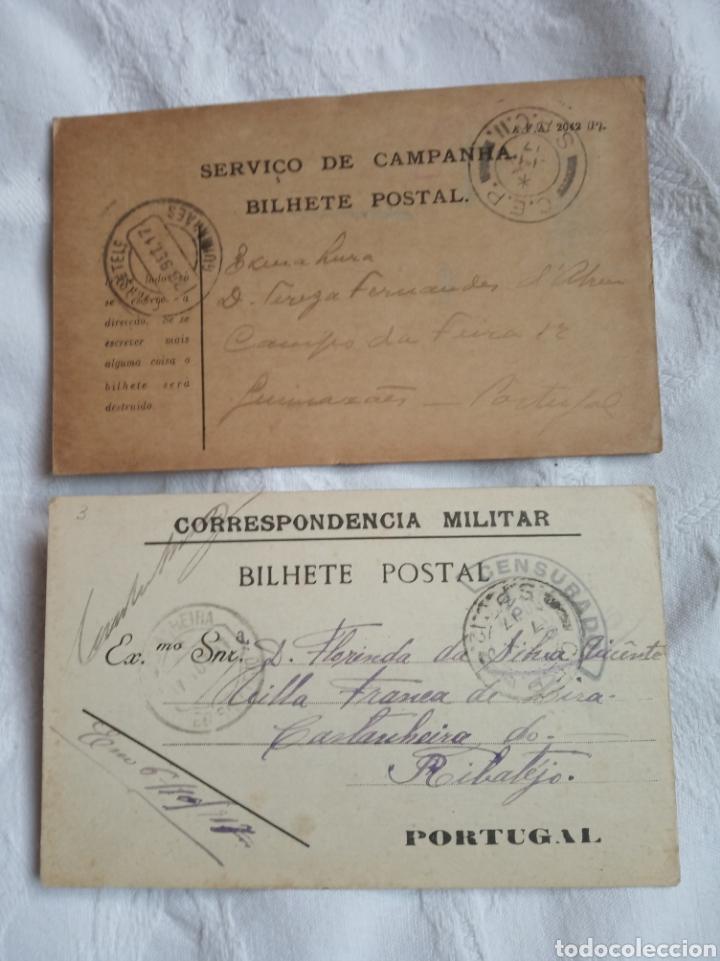 PAREJA POSTALES MILITARES PORTUGAL 1 GUERRA MUNDIAL.EJERCITO.MILITAR.PORTUGUES.1917 (Militar - Propaganda y Documentos)