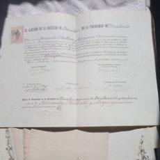Militaria: LOTE 11 TITULOS VARIADOS DE FERNANDO MELLADO LEGUEY.CATEDRATICO.DOCTORADO.MILITAR.POLITICO.JURISTA. Lote 198286486