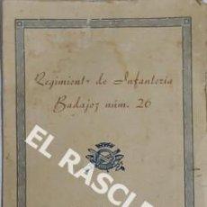 Militaria: ANTIGÜO RECUERDO DE LA JURA DE BANDERA DEL REGIMIENTO DE INFANTERIA BADAJOZ Nº 26 REEMPLAZO DE 1952. Lote 198305168