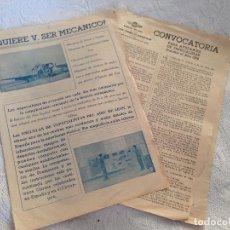 Militaria: CONVOCATORIA E INFORMACION DEL EJERCITO DEL AIRE.ESCUELAS ESPECIALISTAS DEL AIRE DE LEON.AÑO 1956.. Lote 198369577