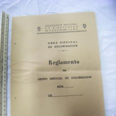 Militaria: JML DOCUMENTO INTONSO DELEGACION MILITAR SINDICATOS FET Y JONS OBRA SINDICAL COLONIZACION AÑO 1960. Lote 199281058