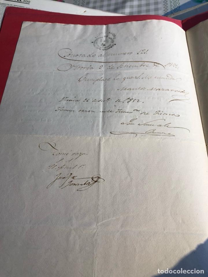 Militaria: Concesión de teniente de infantería, Isabel II - Foto 3 - 199663641