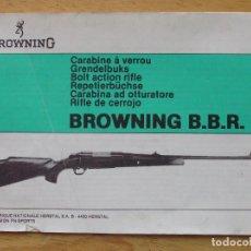 Militaria: MILITAR - MANUAL DEL RIFLE DE CERROJO BROWNING B.B.R.. Lote 199923056