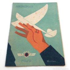 Militaria: AEROMODELOS - PROPAGANDA AEREA, AVIACIÓN CIVIL, 1940. 16X22 CM.. Lote 200062212