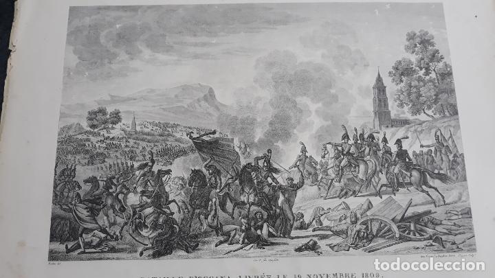 Militaria: batalla de ocaña,grabado 1809,impresor goyer,grabador pigeot ,paris - Foto 2 - 200160091