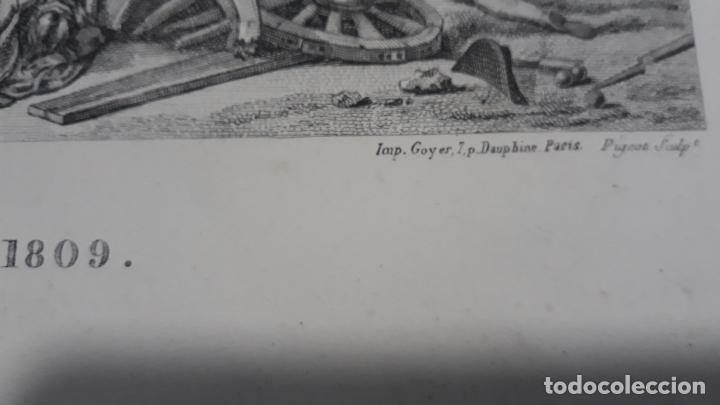 Militaria: batalla de ocaña,grabado 1809,impresor goyer,grabador pigeot ,paris - Foto 3 - 200160091