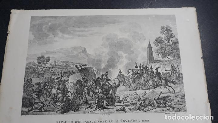 BATALLA DE OCAÑA,GRABADO 1809,IMPRESOR GOYER,GRABADOR PIGEOT ,PARIS (Militar - Propaganda y Documentos)