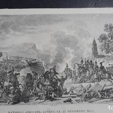 Militaria: BATALLA DE OCAÑA,GRABADO 1809,IMPRESOR GOYER,GRABADOR PIGEOT ,PARIS. Lote 200160091