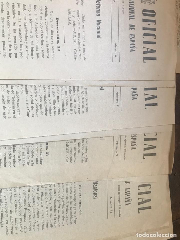 Militaria: Boletín oficial del estado 1936 editado en Burgos números tempranos - Foto 2 - 203173046