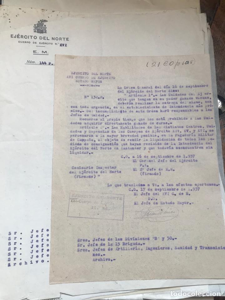 Militaria: Carpeta conteniendo diversa documentación del ejército republicano en el frente del norte asturias - Foto 5 - 203173583