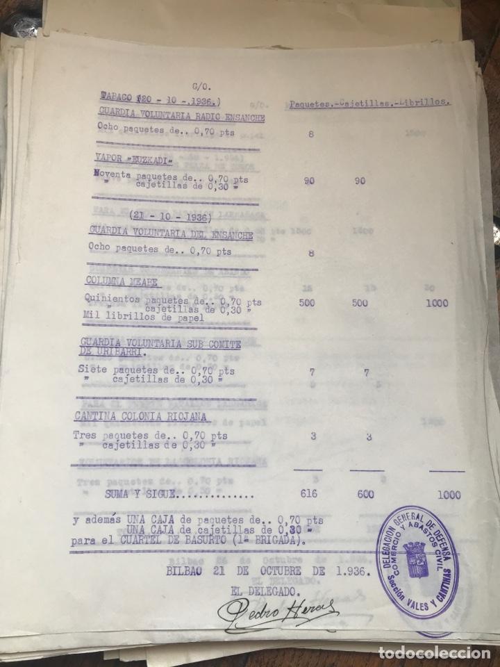 Militaria: Carpeta conteniendo diversa documentación del ejército republicano en el frente del norte asturias - Foto 6 - 203173583