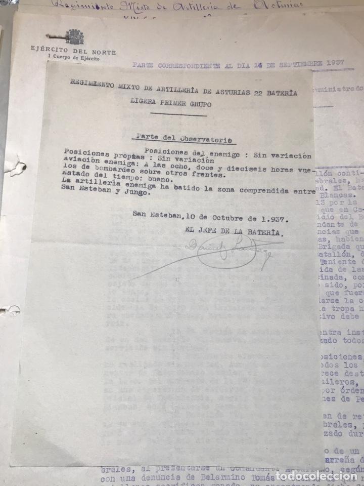 Militaria: Carpeta conteniendo diversa documentación del ejército republicano en el frente del norte asturias - Foto 7 - 203173583