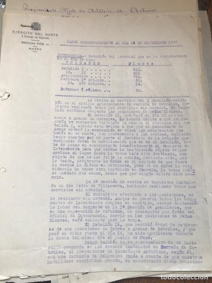 Militaria: Carpeta conteniendo diversa documentación del ejército republicano en el frente del norte asturias - Foto 8 - 203173583