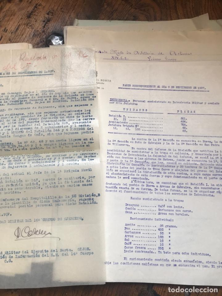 Militaria: Carpeta conteniendo diversa documentación del ejército republicano en el frente del norte asturias - Foto 10 - 203173583