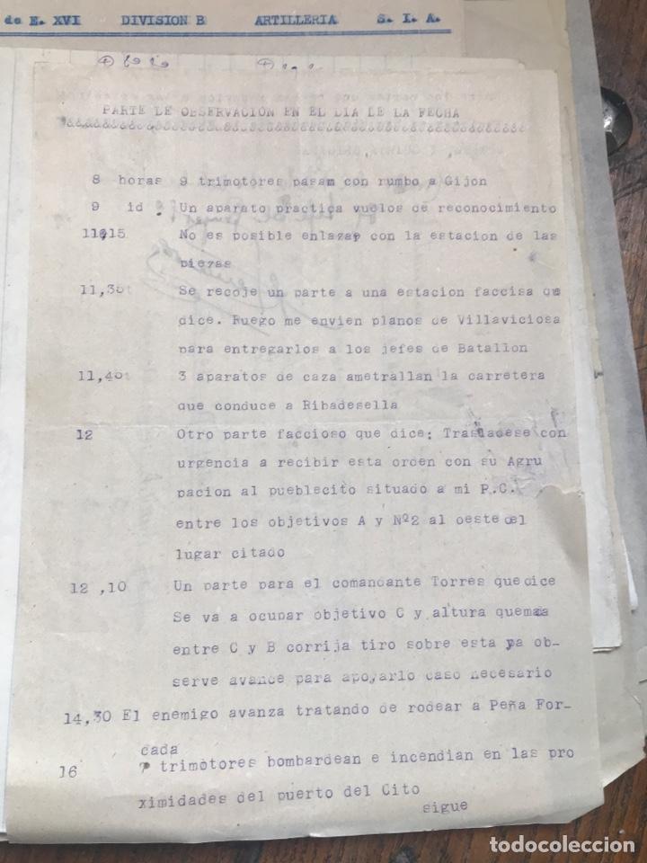 Militaria: Carpeta conteniendo diversa documentación del ejército republicano en el frente del norte asturias - Foto 13 - 203173583