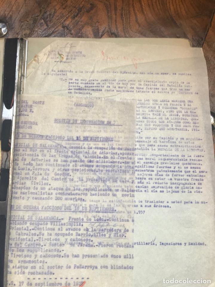 Militaria: Carpeta conteniendo diversa documentación del ejército republicano en el frente del norte asturias - Foto 16 - 203173583
