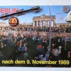 Militaria: MURO DE BERLIN, POSTAL GRANDE 21 CM POR 15 CM, TODO ORIGINAL DE LA EPOCA. Lote 203277668