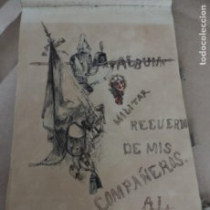 Militaria: ALBUM MILITAR RECUERDO DE LOS COMPAÑEROS, CON PECRIOSAS ILUSTRACIONES MILITARES, SATIRICO-POLITICAS,. Lote 204543070