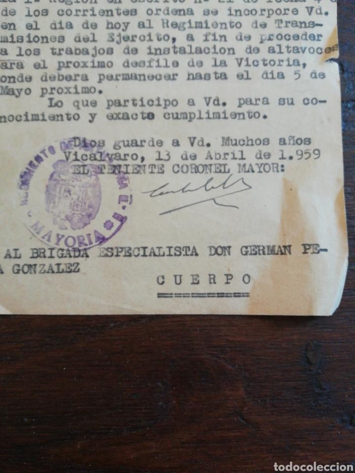 Militaria: Orden de incorporación para el desfile de la Victoria 1959 - Foto 2 - 204665433