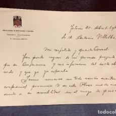 Militaria: MILITAR TETUAN 1949 EXPOSICION CONFERENCIA VILLALBA RUBIO CORONEL ESCUELA POLITECNICA INGENIERO. Lote 204823316