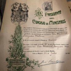 Militaria: GUERRA INDEPENDENCIA. TITULO MEDALLA PRIMER CENTENARIO SITIOS DE GERONA 1809-1909. Lote 205141287