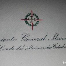 Militaria: SOBRE CON MEMBRETE TENIENTE GENERAL MOSCARDO.. Lote 205273270