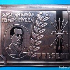 Militaria: ANTIGUA CHAPA - JOSE ANTONIO PRIMO DE RIVERA - PRESENTE - AÑOS 1950-60. Lote 205298238