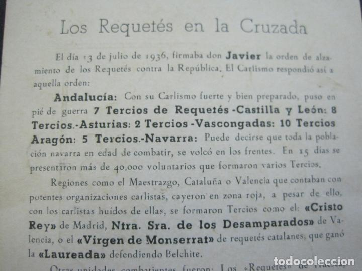 Militaria: ALISTAOS AL REQUETE !--PUBLICIDAD ANTIGUA-(70.531) - Foto 5 - 205319741