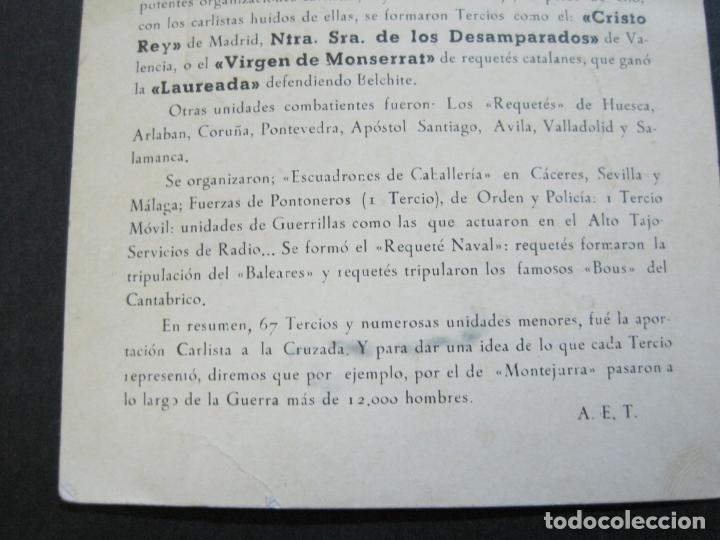 Militaria: ALISTAOS AL REQUETE !--PUBLICIDAD ANTIGUA-(70.531) - Foto 6 - 205319741