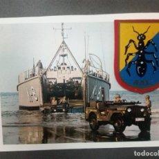 Militaria: AAL(AGRUPACIÒN APOYO LOGISTICO)INFANTERIA DE MARINA.FOTO (JEEP M38A1 DESEMBARCANDO). Lote 205331288