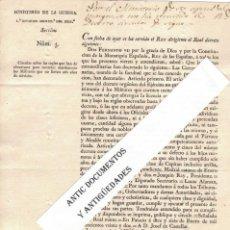 Militaria: AÑO 1822. FERNANDO VII. MATRIMONIO MILITARES. VICENTE RAMÓN Y LINARES. Lote 205442488