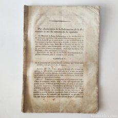 Militaria: LEY DE RECLUTAMIENTO EJERCITO ESPAÑOL DE 1837 - ISABEL II MARIA CRISTINA DE BORBON. Lote 205692316