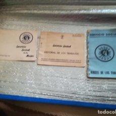 Militaria: ANTIGUOS DOCUMENTOS SERVICIO SOCIAL AJUSTE HISTORIA Y FINALIZACION DE LOS TRABAJOS EN ZARAGOZA AÑOS. Lote 205697988