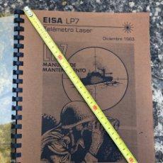 Militaria: TELÉMETRO LÁSER EISA LP7. LIBRO DE MANTENIMIENTO AÑO 83.. Lote 205798113