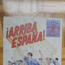 Militaria: PROPAGANDA FALANGE. ARRIBA ESPAÑA. VER FOTO ADICIONAL. Lote 205823285