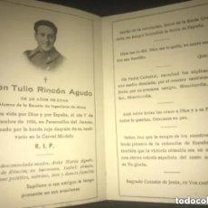 Militaria: ANTIGUA ESQUELA MILITAR ALUMNO ESCUELA INGENIEROS MINAS 1936 PARACUELLOS JARAMA GUERRA CIVIL. Lote 205830977