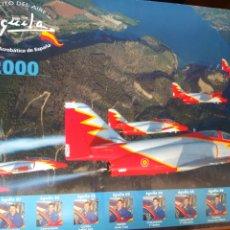 Militaria: PÓSTER OFICIAL PATRULLA ÁGUILA. TEMPORADA 2000. AVIACIÓN MILITAR. Lote 206408842