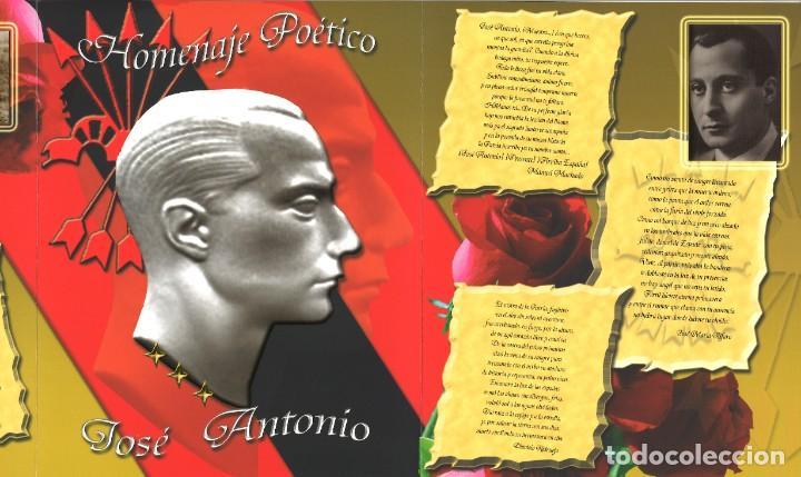 Militaria: TRÍPTICO HOMENAJE POÉTICO JOSÉ ANTONIO - Foto 2 - 206531230