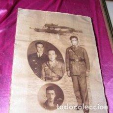 Militaria: PLUS ULTRA VUELO DE ESPAÑA A AMERICA FOTOGRAFIA IMPRESA TIPO CARTEL. Lote 206832937
