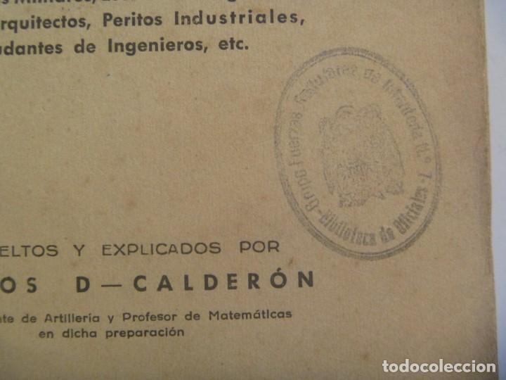Militaria: ACADEMIA GENERAL MILITAR: PROBLEMAS DE GEOMETRIA Y TRIGONOMETRIA . CARLOS CALDERON, ZARAGOZA, 1953 - Foto 2 - 206927322