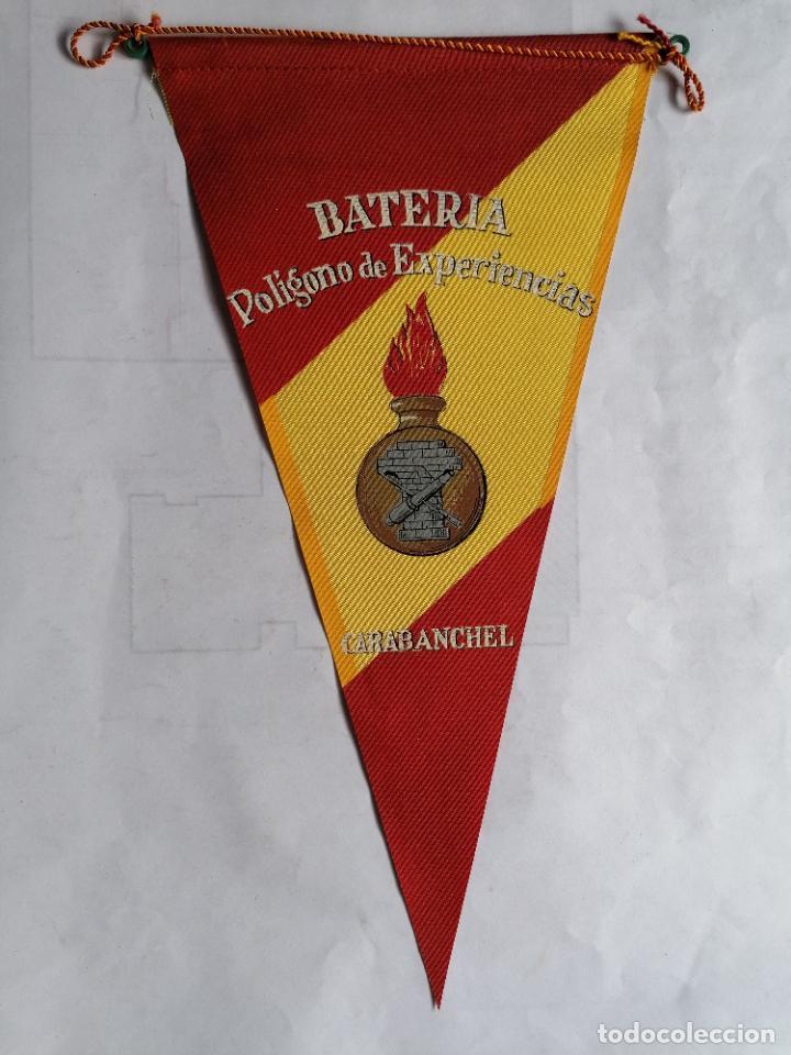 BANDERIN BATERIA POLIGONO DE EXPERIENCIAS - CARABANCHEL, AÑOS 60 (Militar - Propaganda y Documentos)